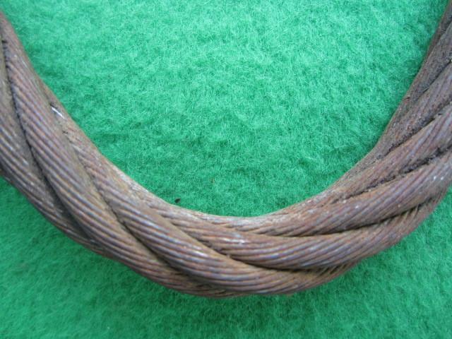 218 玉掛ワイヤー 吊りワイヤー つりワイヤー ロープ 中古品 クレーン作業等に。_画像4