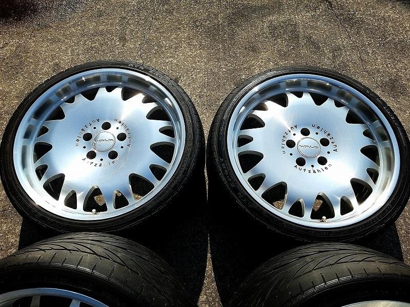 定価60万円 深リム鍛造 WALD アウフツェーレン A11 PCD120 レクサス LS460 LS500 LC500 LS600 BMW 5シリーズ 7シリーズ ホイール 中古 軽量_画像4