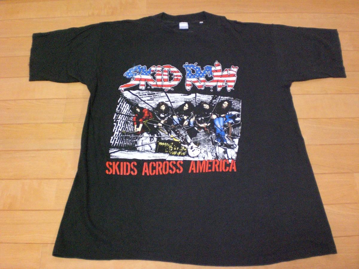 当時物 ビンテージ 80s 90's SKID ROW スキッドロウ Tシャツ SLAYER BEASTIE BOYS GUNS N ROSES METALLICA PANTERA NIRVANA BON JOVI 2_画像1