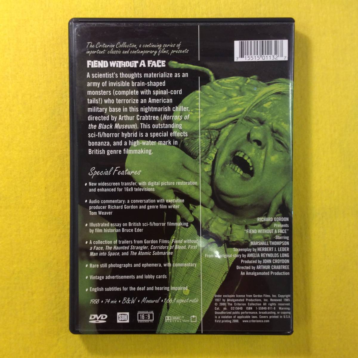 【DVD】FIEND WITHOUT A FACE・輸入盤 リージョン1 SF SciFi 映画_画像2