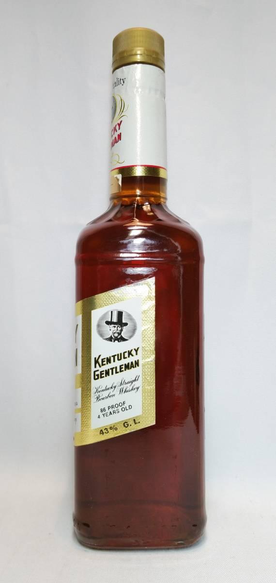 【全国送料無料】KENTUCKY GENTLEMAN 4years old ケンタッキージェントルマン4年 43度 750ml_画像3