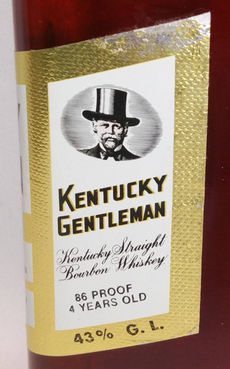 【全国送料無料】KENTUCKY GENTLEMAN 4years old ケンタッキージェントルマン4年 43度 750ml_画像6