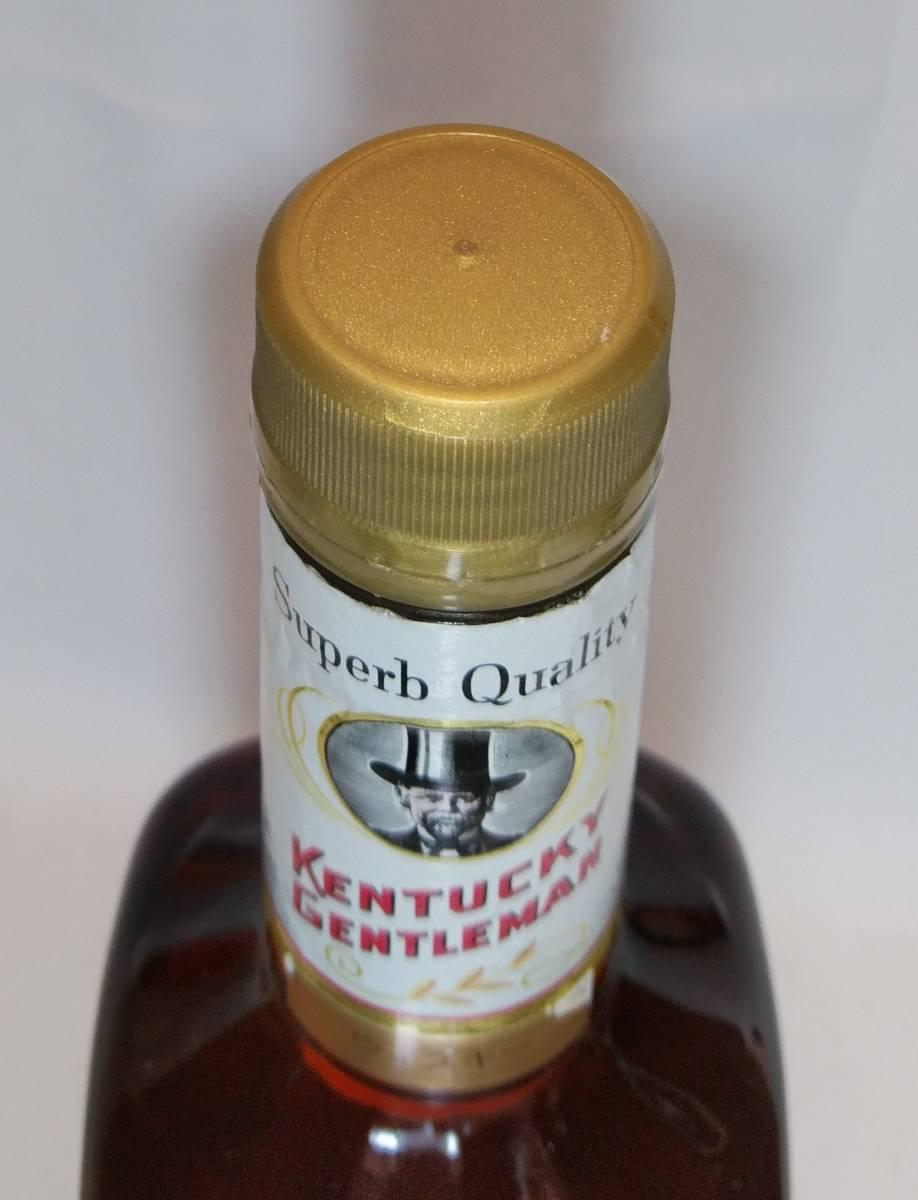 【全国送料無料】KENTUCKY GENTLEMAN 4years old ケンタッキージェントルマン4年 43度 750ml_画像8