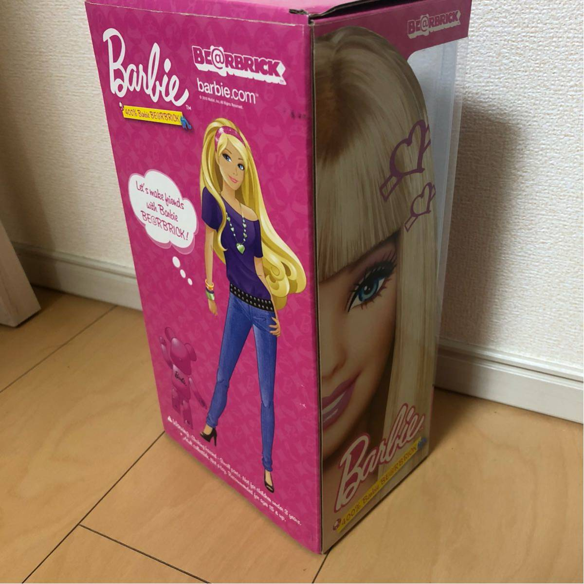 美品 ベアブリック Barbie 400% バービー/KAWS BAPE_画像4