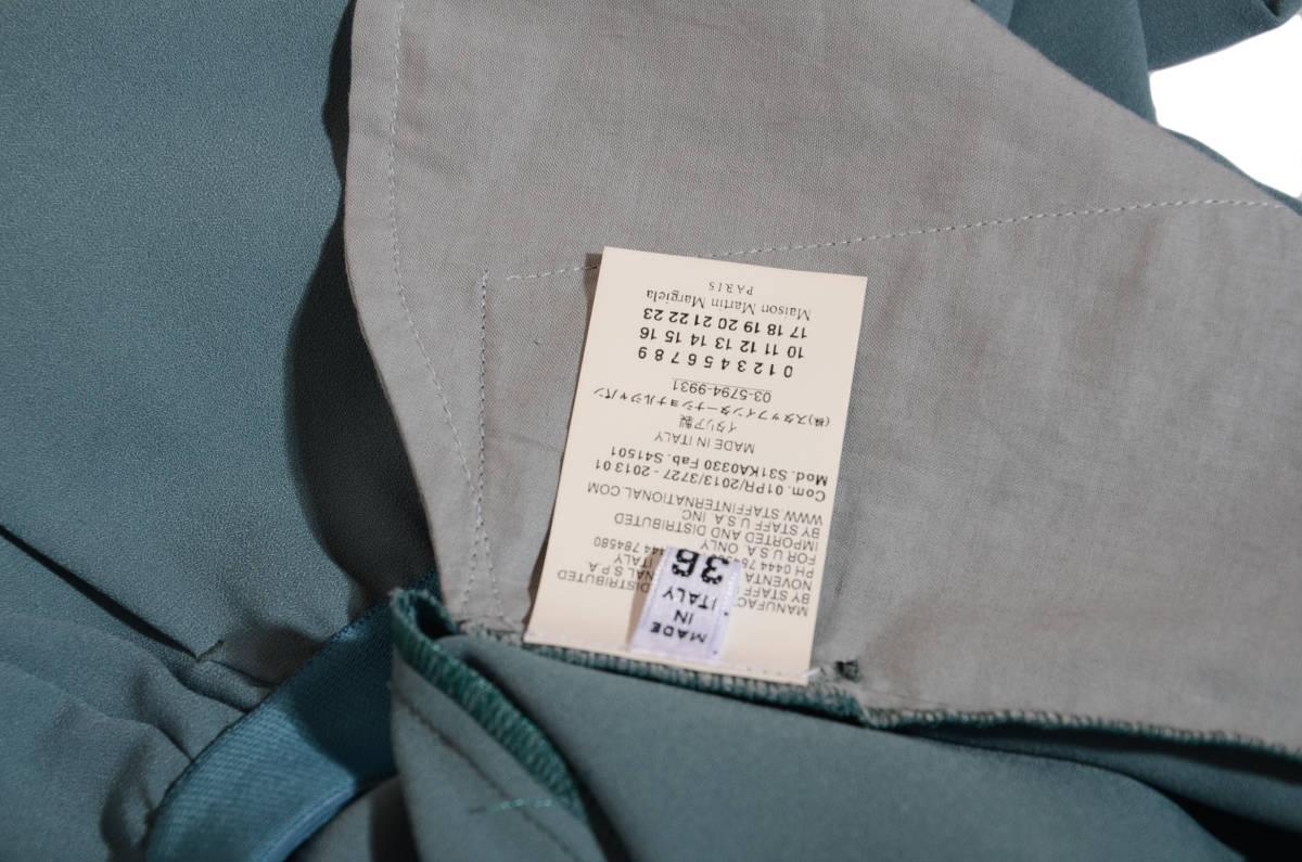 マルタンマルジェラ センタープレス クレープ生地 イージーテーパードパンツ   イタリア36/5-7号 _画像5