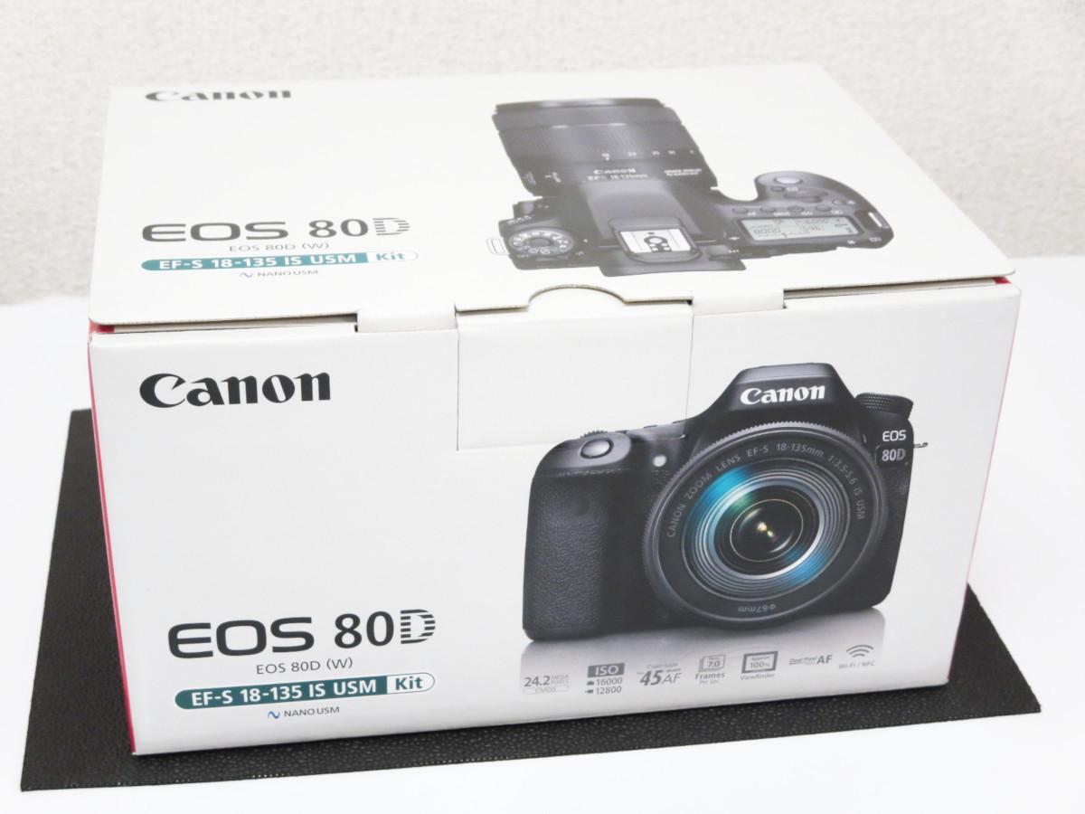 未使用 CANON キャノン EOS 80D EF-S 18-135 IS USM キット