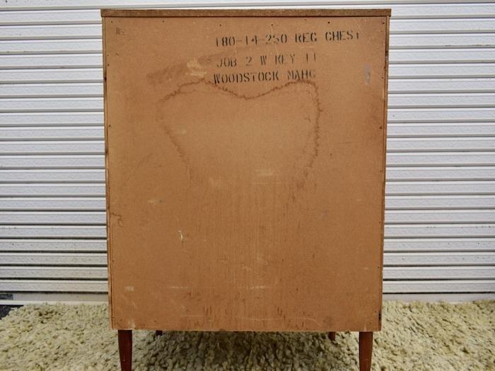 ビンテージ 60's BASSETT社製 ウッドハイチェスト アンティーク バセット インテリア 収納家具 アメリカ ミッドセンチュリー_画像9