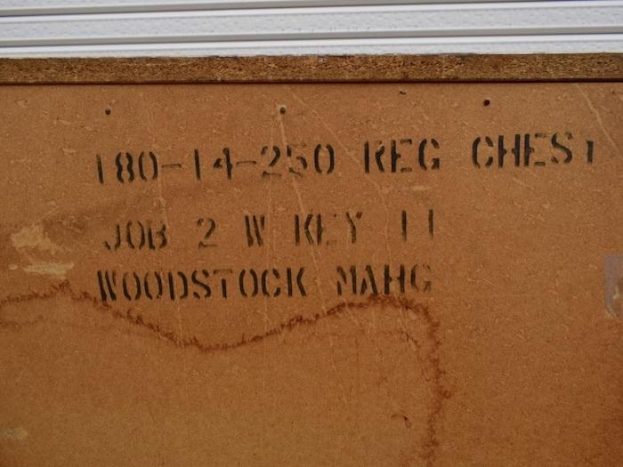 ビンテージ 60's BASSETT社製 ウッドハイチェスト アンティーク バセット インテリア 収納家具 アメリカ ミッドセンチュリー_画像10