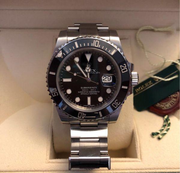 【ロレックス 確実正規品 黒文字盤 116610 サブマリーナデイト 腕時計 中古品】_画像3