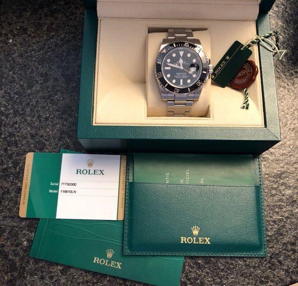 【ロレックス 確実正規品 黒文字盤 116610 サブマリーナデイト 腕時計 中古品】_画像2