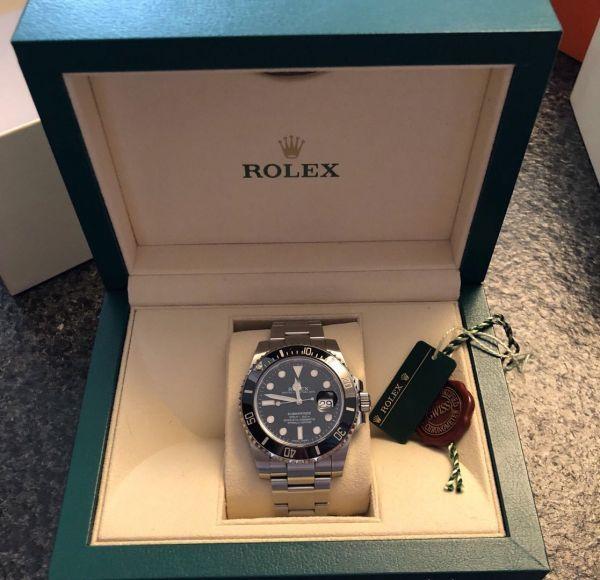【ロレックス 確実正規品 黒文字盤 116610 サブマリーナデイト 腕時計 中古品】