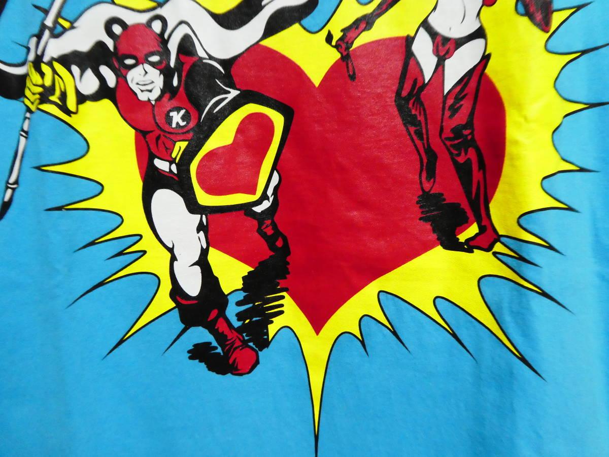 希少 SUPER LOVERS スーパーラヴァーズ Tシャツ ライトブルー 日本製 FROM TOKYO WITH LOVE 1988 検 アメコミ風 検ヒス 90年代_画像5