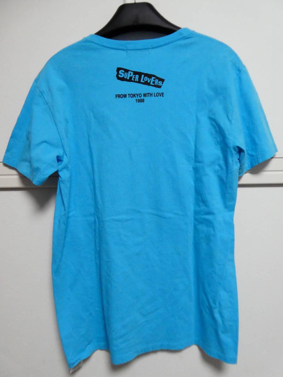 希少 SUPER LOVERS スーパーラヴァーズ Tシャツ ライトブルー 日本製 FROM TOKYO WITH LOVE 1988 検 アメコミ風 検ヒス 90年代_画像9