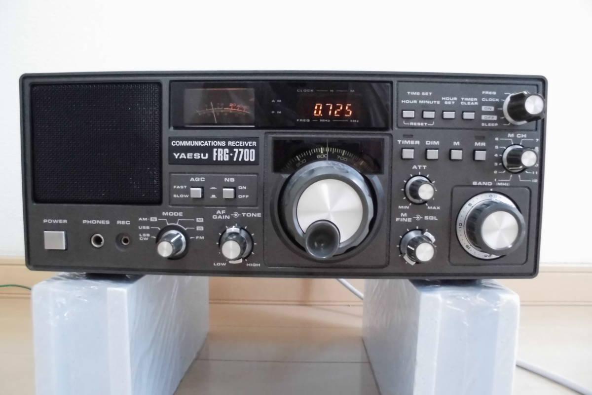 YAESU FRG-7700 receiver memory attaching operation goods Junk