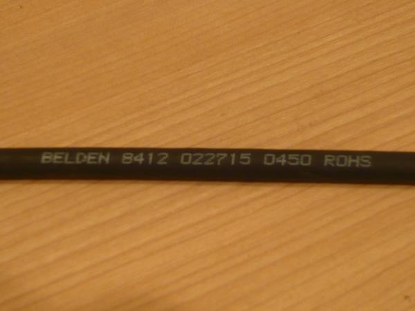 ★ 即決 BELDEN 8412 RCA-ステレオミニプラグ3.5mm 変換ケーブル 5m Yケーブル 金メッキ NYS352AG NYS231BG-LL (アンフェノール変更可) ★_画像9