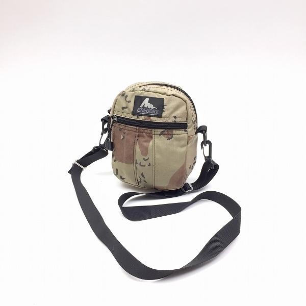 ○グレゴリー 旧タグ USA製 クイックポケット ショルダーバッグ カモ柄 茶ブラウン Mサイズ H27-072