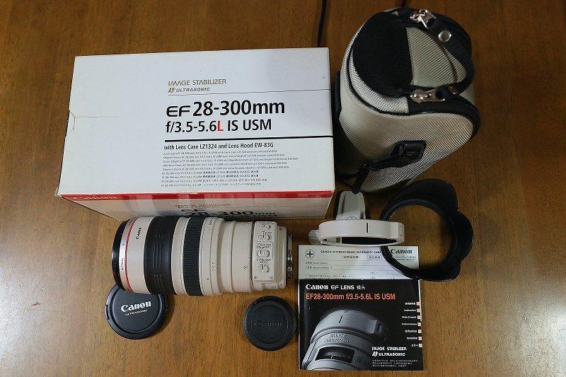 ★美品★キヤノン Canon EF 28-300mm F3.5-5.6L IS USM 元箱・付属品・レンズプロテクター付き★
