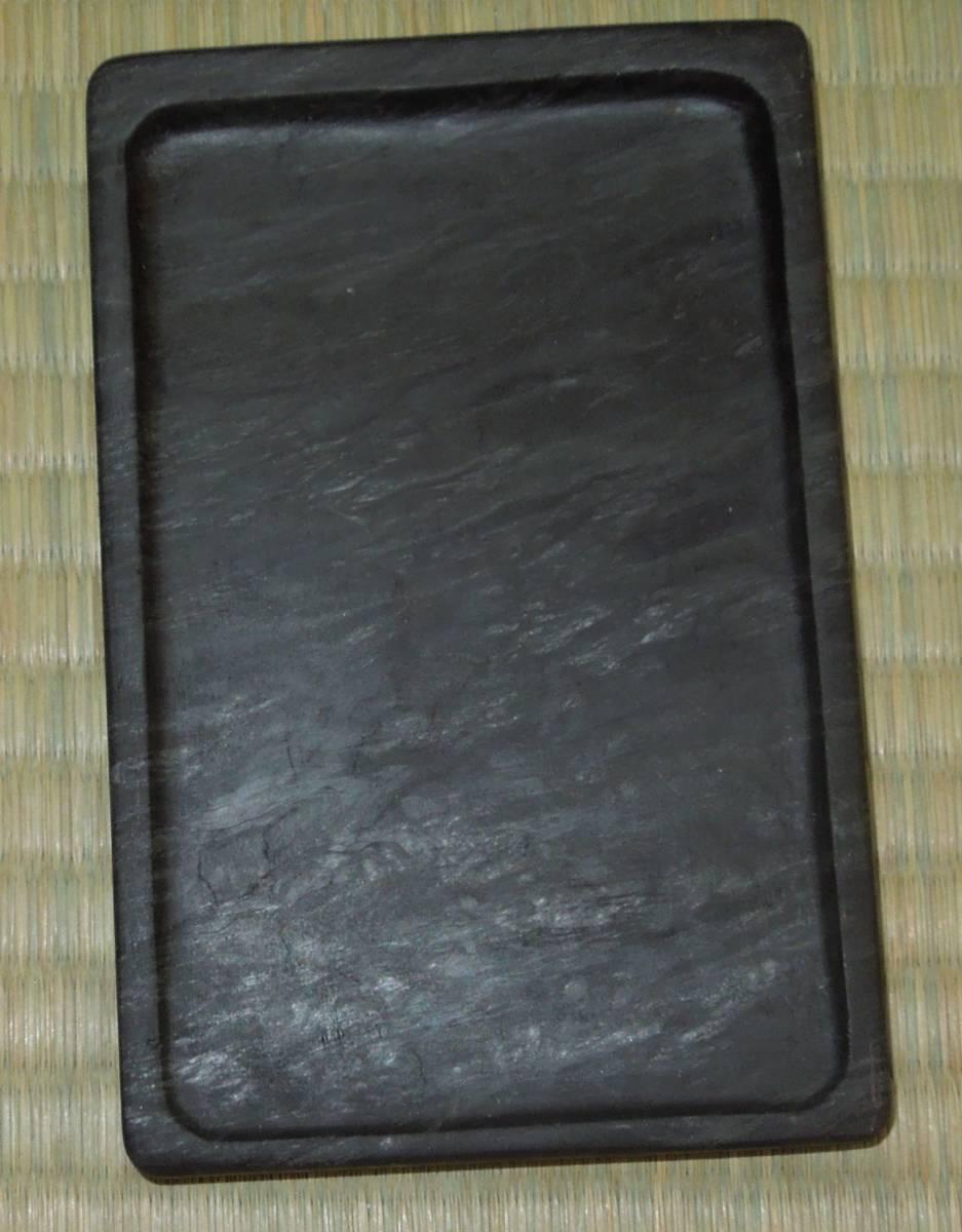 書道具 古硯 眉子歙州硯  硯本体:約12.5cm×8cm×1cm  薄型_画像2