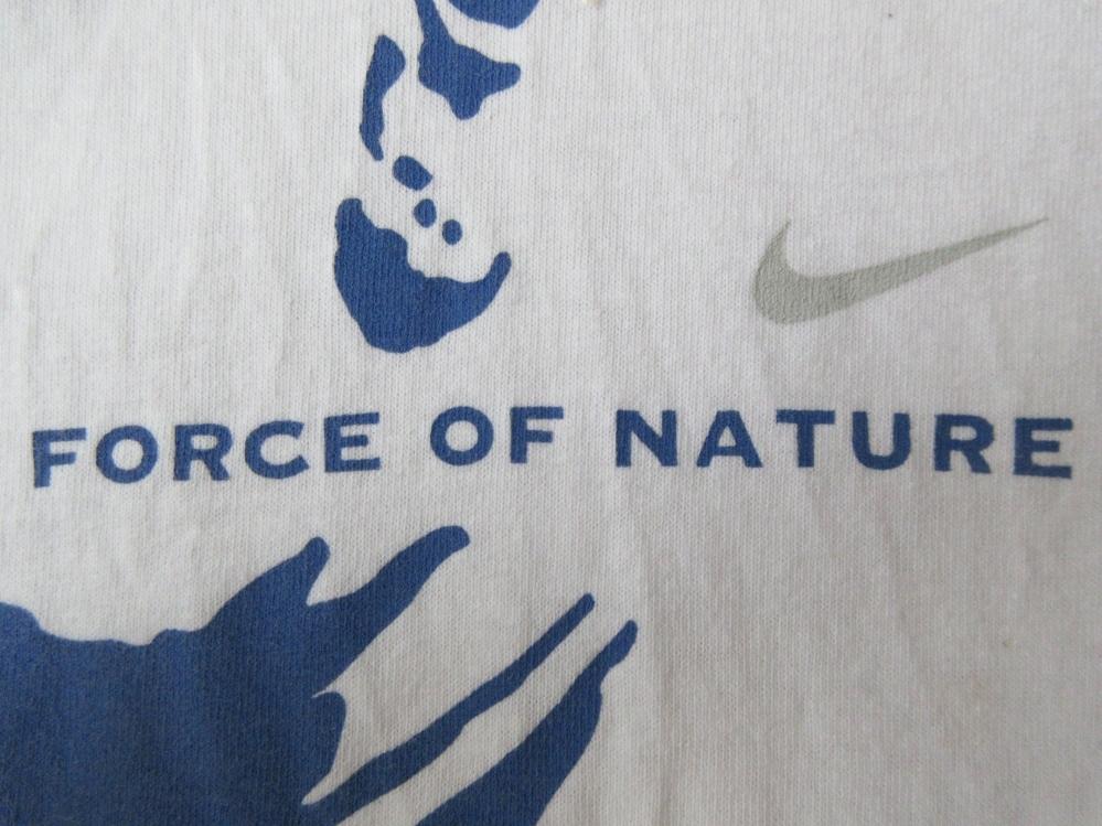 00's メキシコ製 NIKE LeBron James フェイス FORCE OF NATURE Tシャツ XLナイキ レブロン ジェームズNBAクリーブランド キャバリアーズNSW_画像7