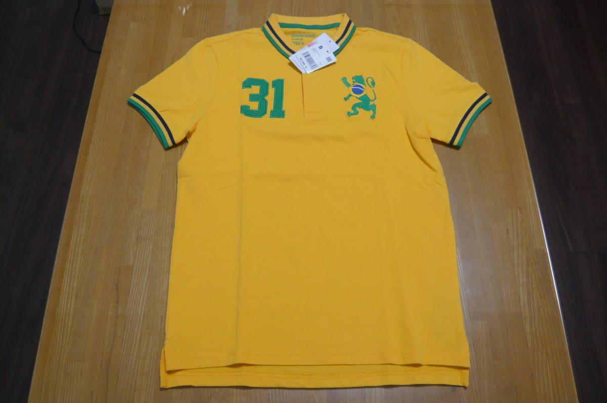 ラスト1枚 GIORDANO Sサイズ 国旗POLOシャツ WEGO ウイゴー 新品未開封 定価2,990円(税別)_画像1