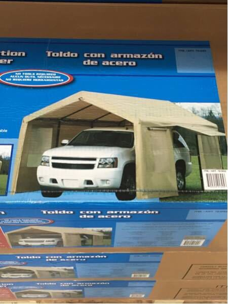 新モデル スチールフレームキャノピー カーポート 車庫 3m×6m×2.9m スチール キャノピー 簡易車庫 テント_画像3