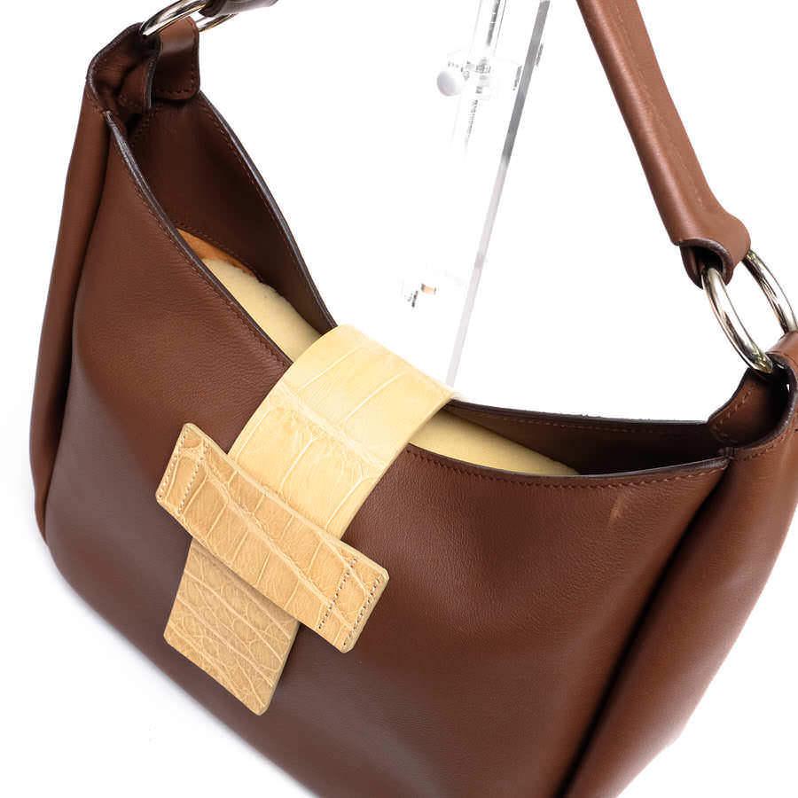 MAURO GOVERNA マウロゴヴェルナ トートバッグ ハンドバッグ 鞄 ワンショルダー 肩掛け イタリア製 レディース レザー 革 c2038_画像6