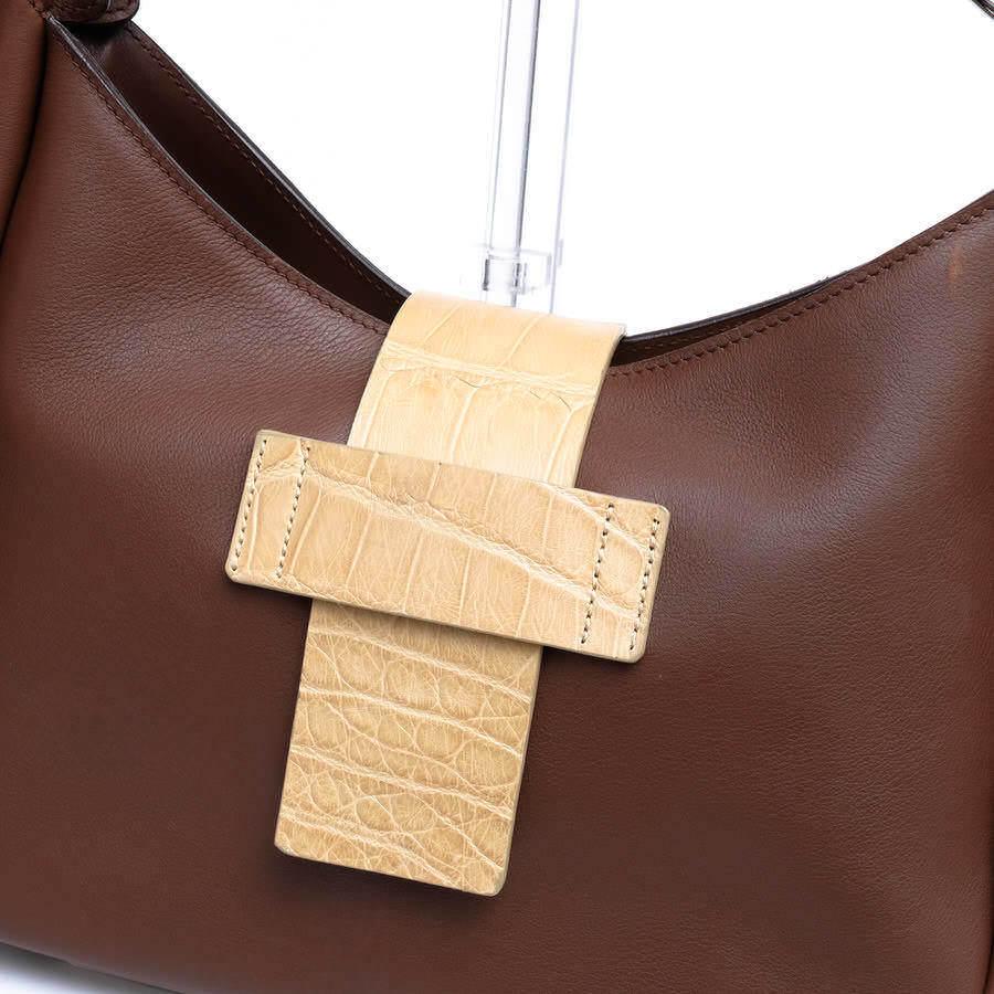MAURO GOVERNA マウロゴヴェルナ トートバッグ ハンドバッグ 鞄 ワンショルダー 肩掛け イタリア製 レディース レザー 革 c2038_画像5