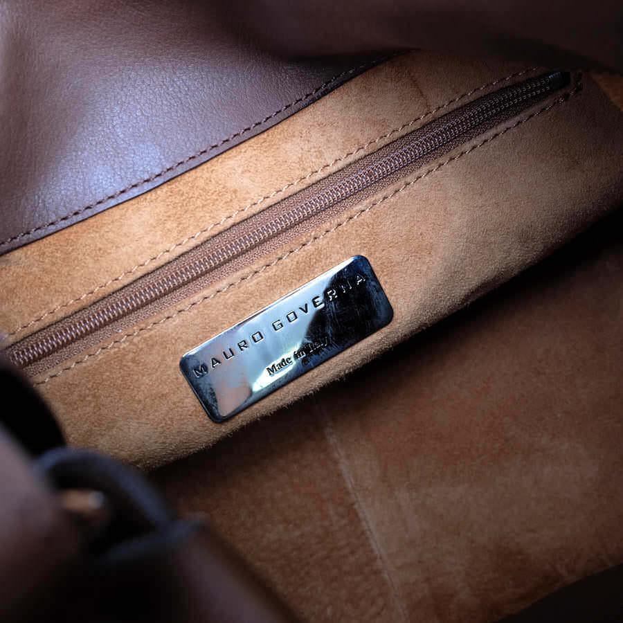 MAURO GOVERNA マウロゴヴェルナ トートバッグ ハンドバッグ 鞄 ワンショルダー 肩掛け イタリア製 レディース レザー 革 c2038_画像9