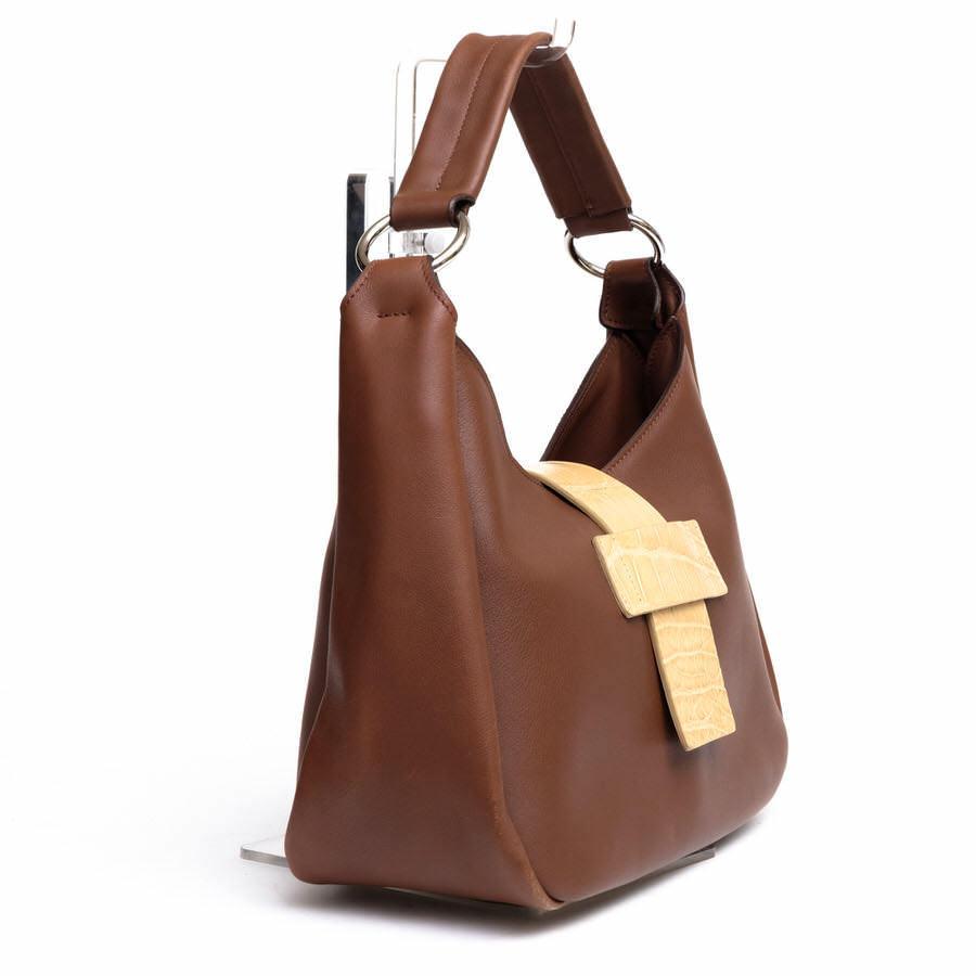 MAURO GOVERNA マウロゴヴェルナ トートバッグ ハンドバッグ 鞄 ワンショルダー 肩掛け イタリア製 レディース レザー 革 c2038_画像3