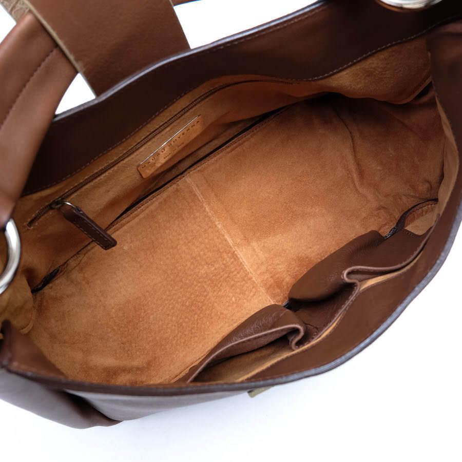 MAURO GOVERNA マウロゴヴェルナ トートバッグ ハンドバッグ 鞄 ワンショルダー 肩掛け イタリア製 レディース レザー 革 c2038_画像8