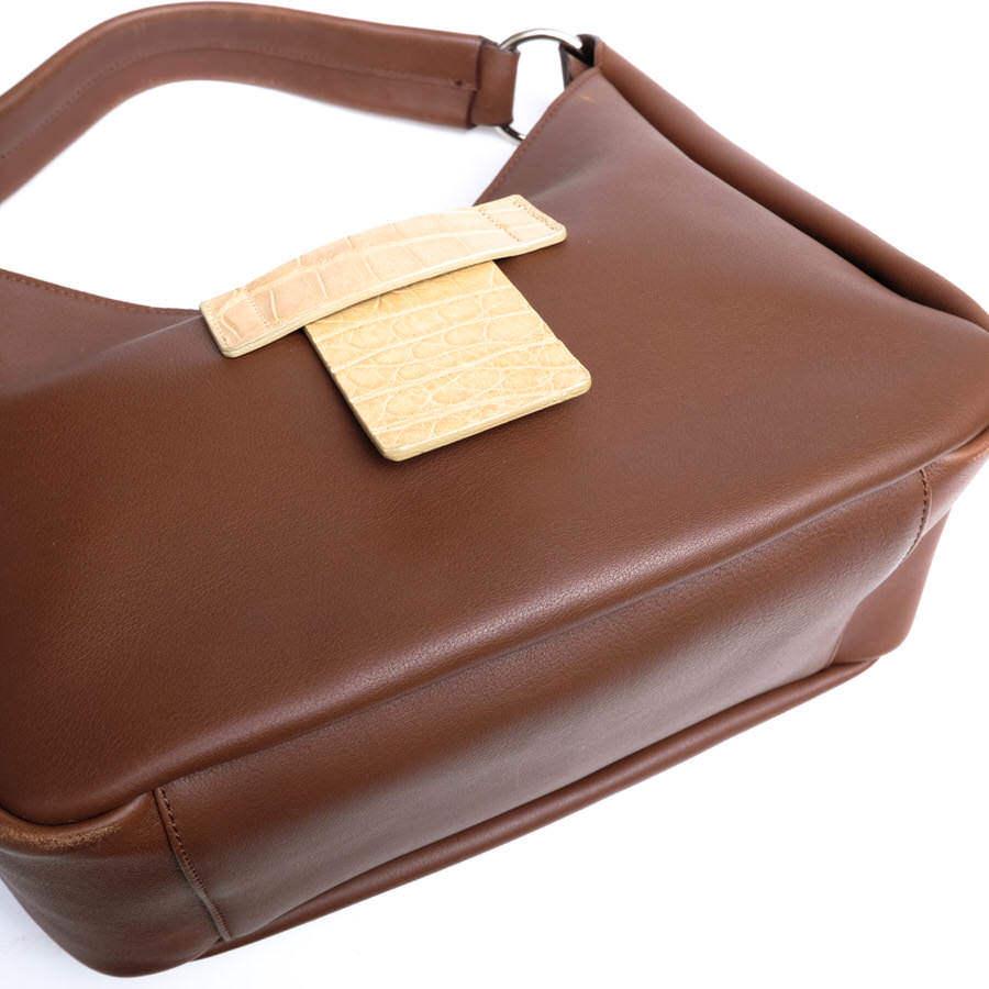 MAURO GOVERNA マウロゴヴェルナ トートバッグ ハンドバッグ 鞄 ワンショルダー 肩掛け イタリア製 レディース レザー 革 c2038_画像7
