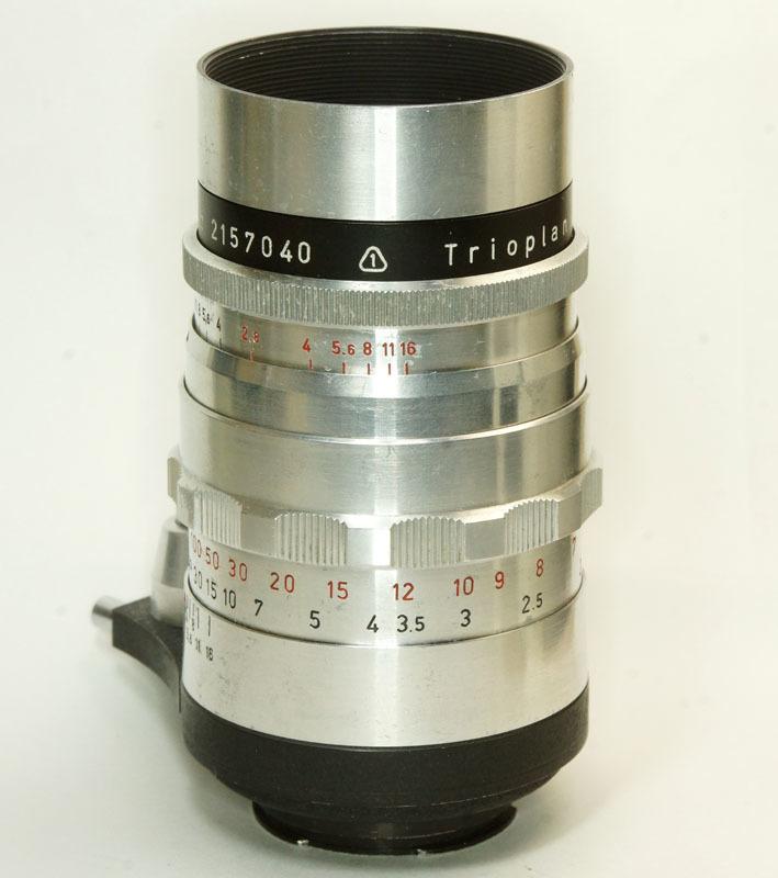 ドイツ製 Meyer-Optik Trioplan 2.8/100 Exakta 7RN-040 シルバー Q1 自動絞 絞羽10枚 レア オリジナル バブルボケ_画像4