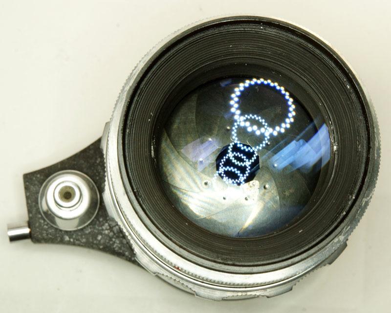 ドイツ製 Meyer-Optik Trioplan 2.8/100 Exakta 7RN-040 シルバー Q1 自動絞 絞羽10枚 レア オリジナル バブルボケ_画像5