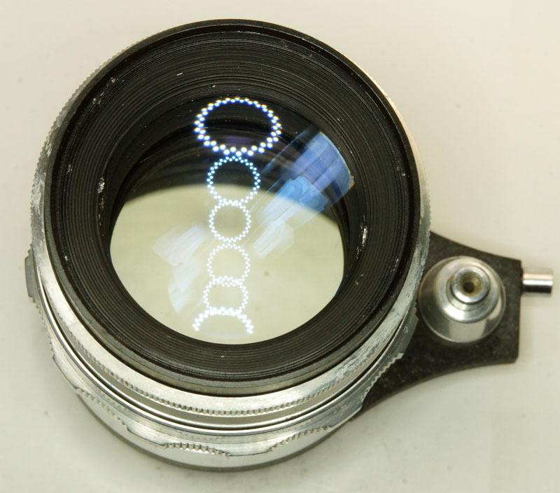 ドイツ製 Meyer-Optik Trioplan 2.8/100 Exakta 7RN-040 シルバー Q1 自動絞 絞羽10枚 レア オリジナル バブルボケ_画像6