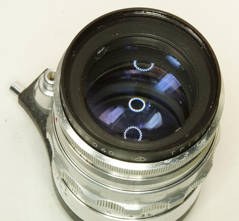 ドイツ製 Meyer-Optik Trioplan 2.8/100 Exakta 7RN-040 シルバー Q1 自動絞 絞羽10枚 レア オリジナル バブルボケ_画像7