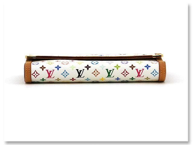 中古美品 ルイヴィトン LOUIS VUITTON 長財布 モノグラム マルチカラー ポルトトレゾール インターナショナル M92659 ブロン 白 ホワイト_ソリ等、あまり見られません