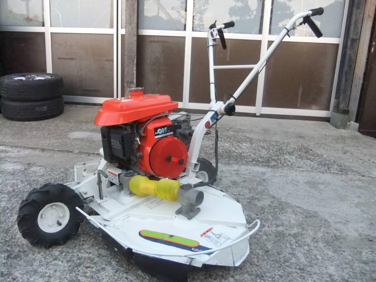 草刈機自走式クボタGC700 ロータリーモア ウイングモア滑りにくい2WD最大6.0馬力★格安です。_画像2