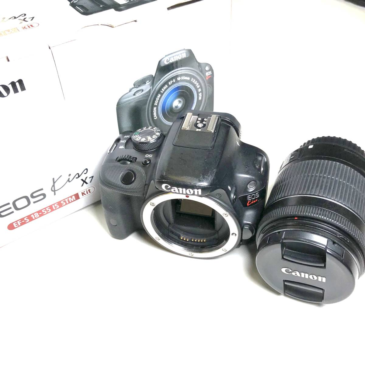 【1円出品】Canon EOS Kiss x7i EF-S 18-135 IS STM Kit デジタル一眼レフカメラ ki