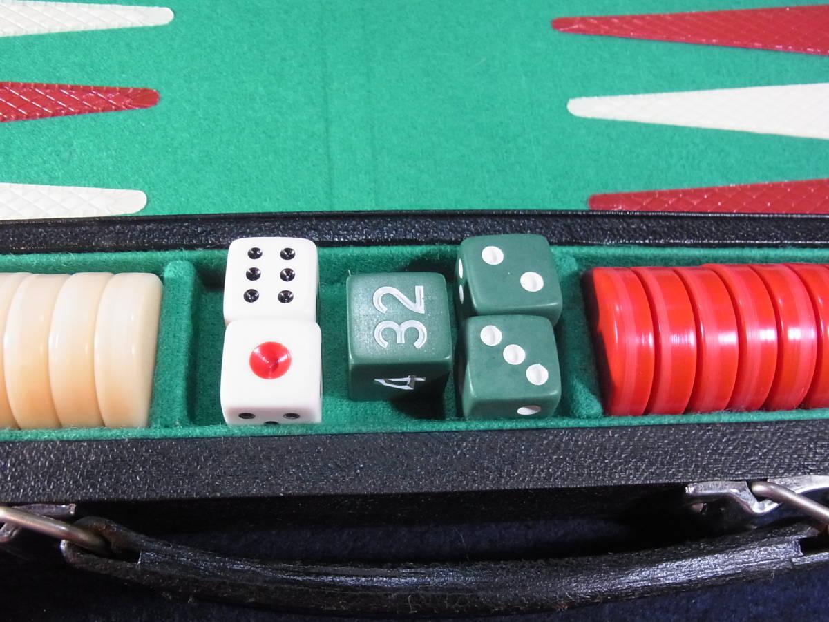 OMEGA オメガ BACKGAMMON バックギャモン アタッシュケース型 ボードゲーム おまけ有り 状態まあまあ_画像6