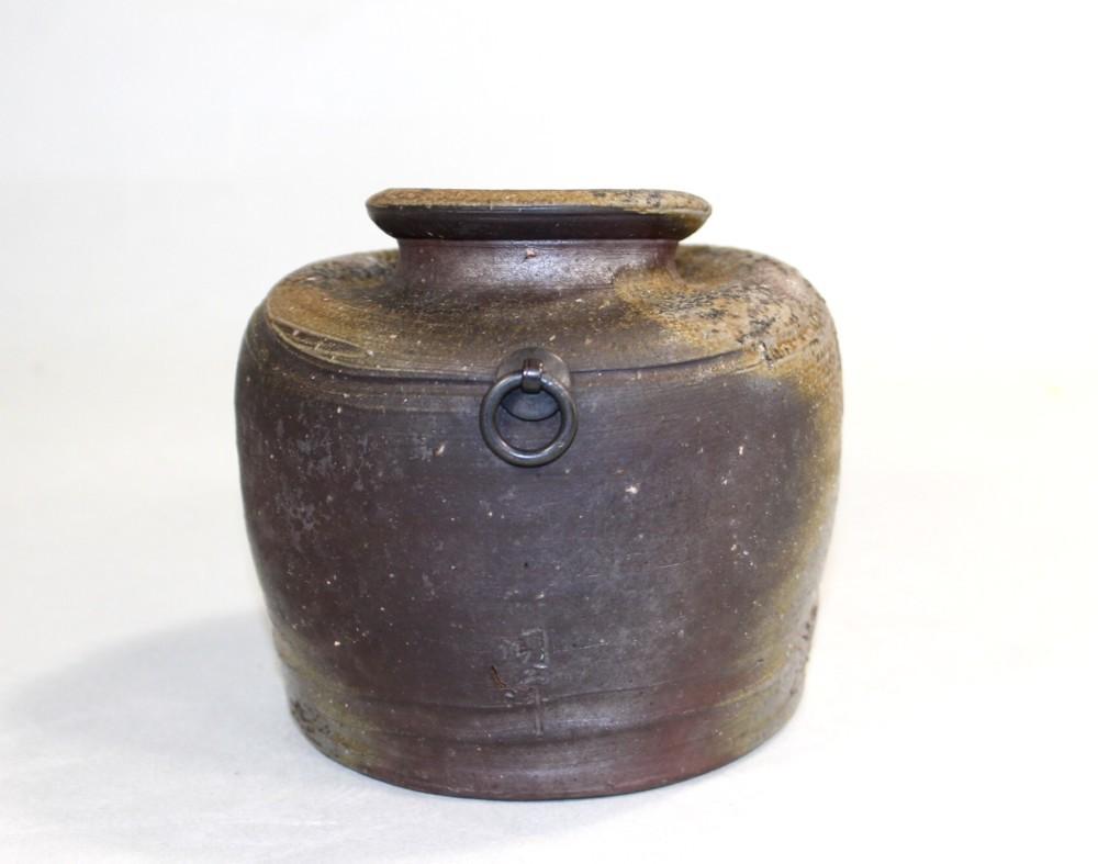 茶道具 備前(うずくまる)花入 木村陶峰造◆創美堂rh02_画像4