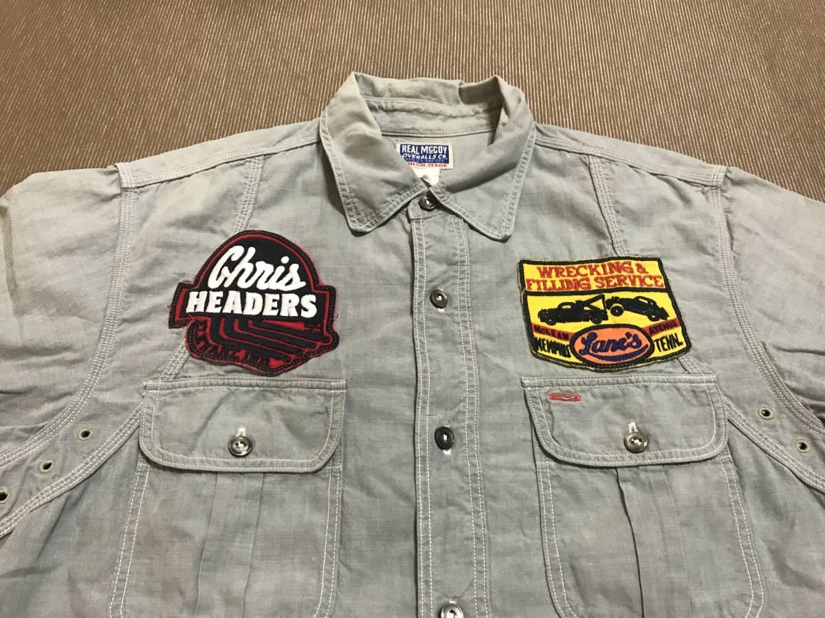 THE REAL McCOY'S 半袖 シャツ 15 リアルマッコイズ /検 buco トイズマッコイ_画像3