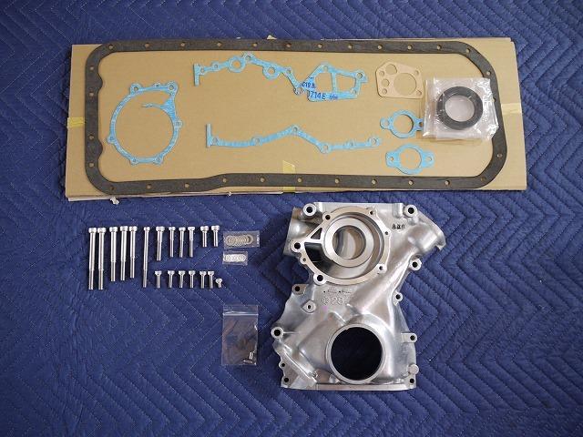 US1571◎ALL新品 L型 L20~L28 フロントカバー 交換セット ハコスカ S30Z ケンメリ S130Z ジャパン 330 L6 旧車_画像1