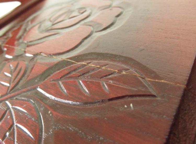 卓上ドレッサー 昭和レトロ 小物入れ 木製 コンパクト メイクボックス 収納 古道具 引き出し アンティーク_画像2