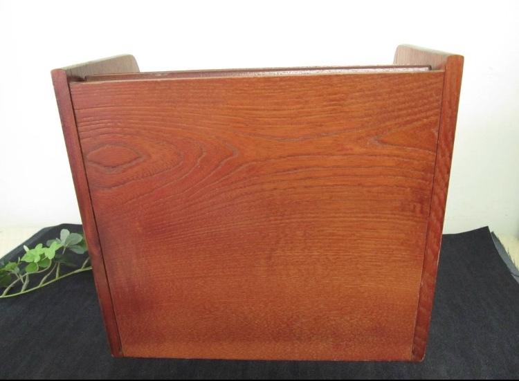 卓上ドレッサー 昭和レトロ 小物入れ 木製 コンパクト メイクボックス 収納 古道具 引き出し アンティーク_画像9