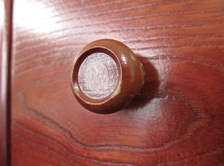 卓上ドレッサー 昭和レトロ 小物入れ 木製 コンパクト メイクボックス 収納 古道具 引き出し アンティーク_画像7