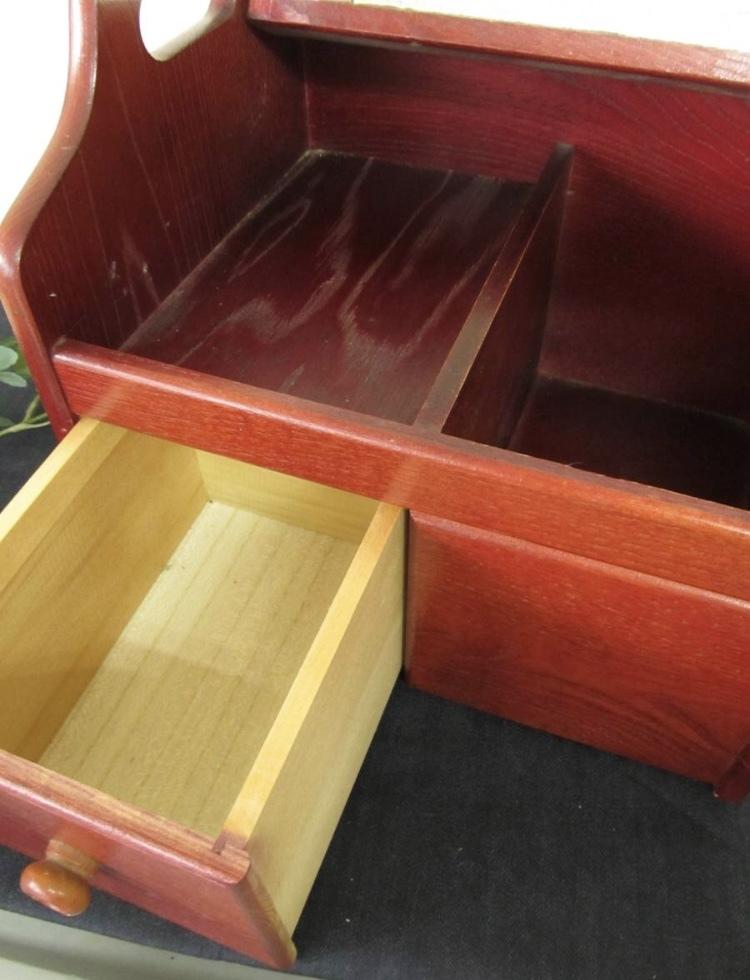 卓上ドレッサー 昭和レトロ 小物入れ 木製 コンパクト メイクボックス 収納 古道具 引き出し アンティーク_画像6