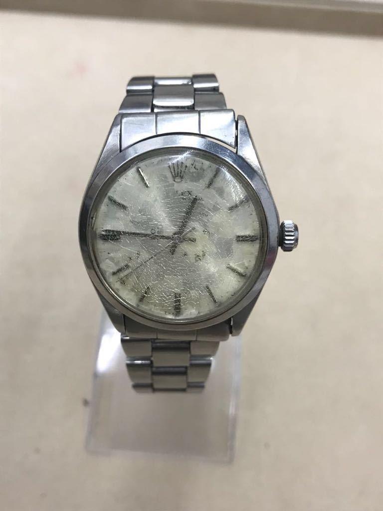 レア! ロレックス ROLEX 腕時計 エアキング Air-King Ref.5500 PRECISION 自動巻き メンズ ジャンク