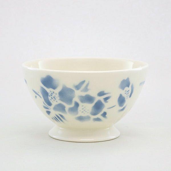 グランシュマン カフェオレボウル fleur(ブルー) 日本製 半磁器 フランス雑貨 新品