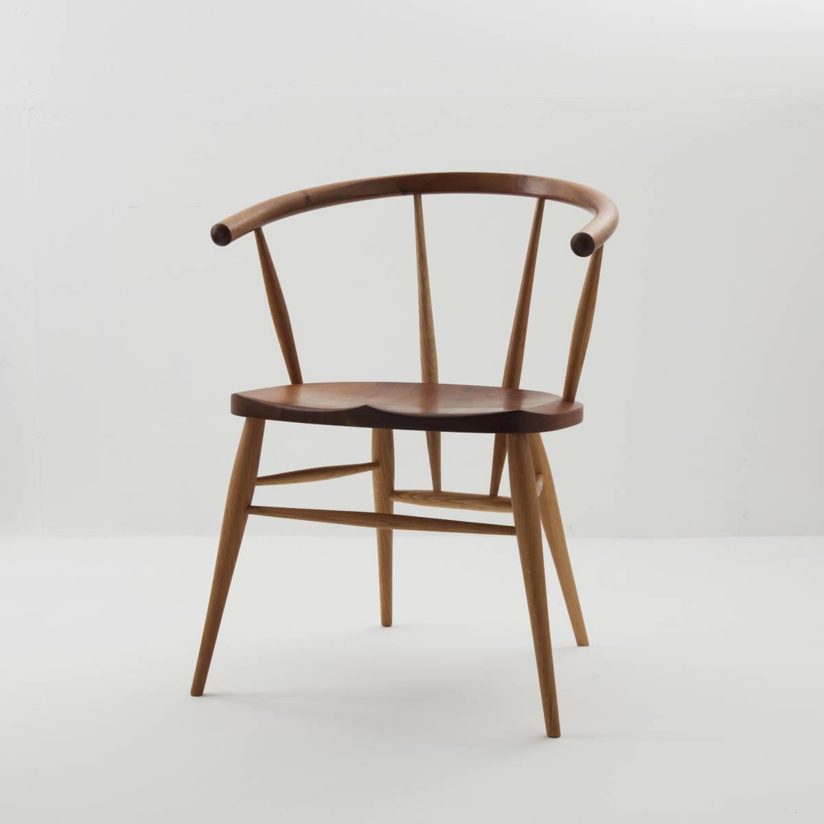 高山ウッドワークス Cafe Chair カフェチェア ウォールナット+ナラ材 曲げ木チェア