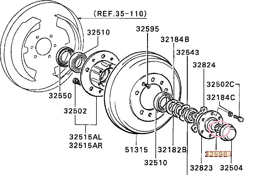 三菱ジープ(J53,J54.J55,J56,J57,J58,J59 )ワイド用フロントドライブシャフトスナップリング2個セット純正新品(MA307838)_画像4